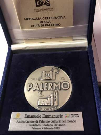 Il Prof. Emanuele nominato Ambasciatore di Palermo Culture nel Mondo